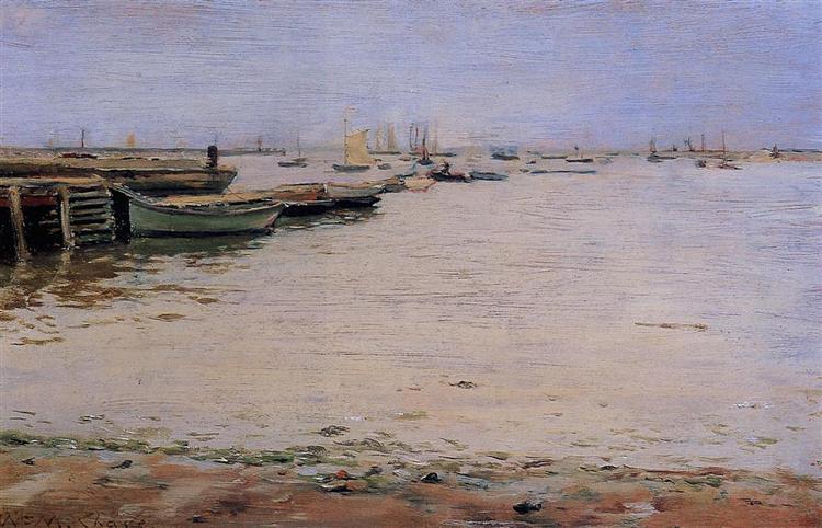 Gowanus Bay (aka Misty Day, Gowanus Bay), 1888 - William Merritt Chase