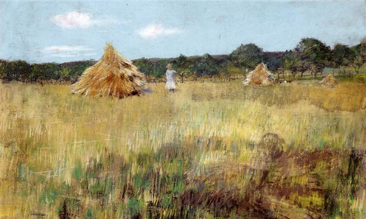 Grain Field, Shinnecock Hills, c.1891 - William Merritt Chase