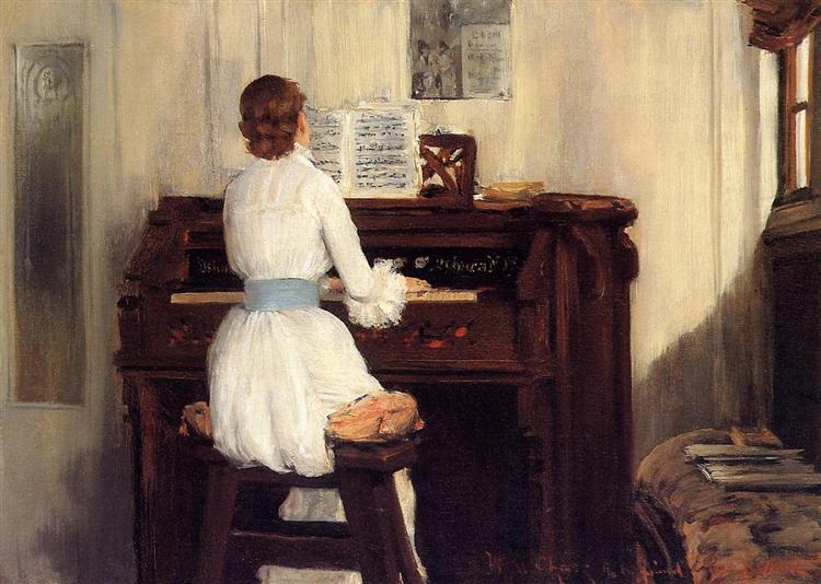 Mrs. Meigs at the Piano Organ, 1883 - William Merritt Chase