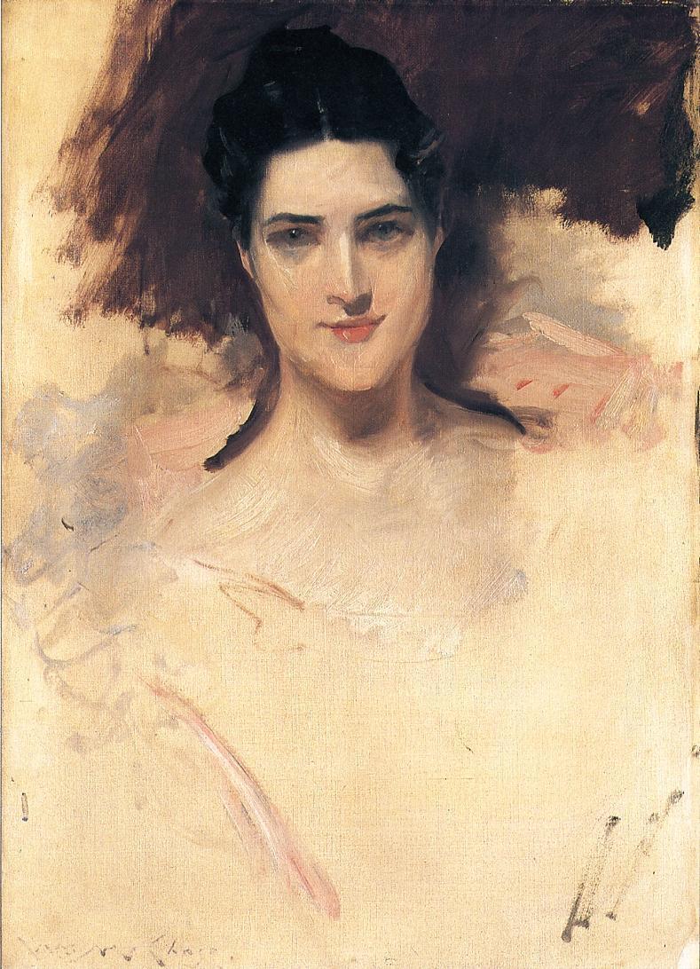 Portrait of Mrs. William Clark - William Merritt Chase ...