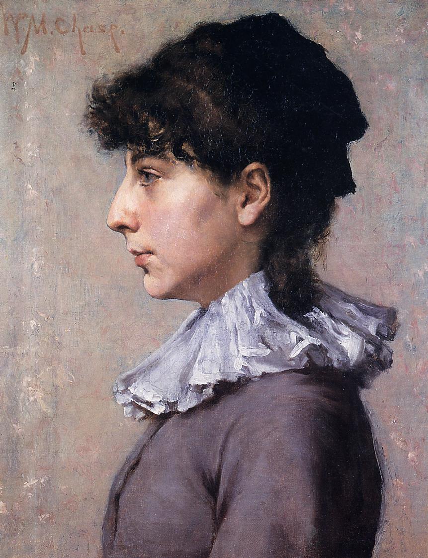 Portrait of Virginia Gerson - William Merritt Chase ...