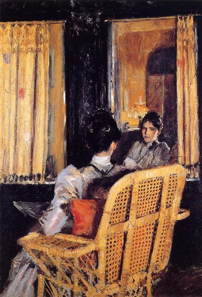 Reflection, c.1893 - William Merritt Chase
