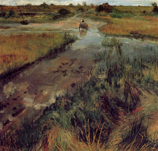 Swollen Stream at Shinnecock, c.1895 - William Merritt Chase
