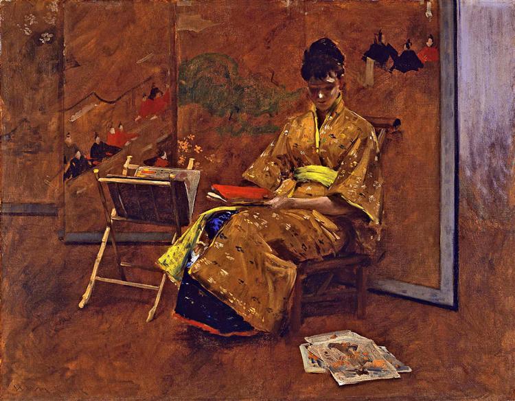 The Kimono, 1895 - William Merritt Chase