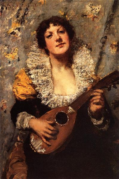 The Mandolin Player, c.1878 - c.1879 - William Merritt Chase