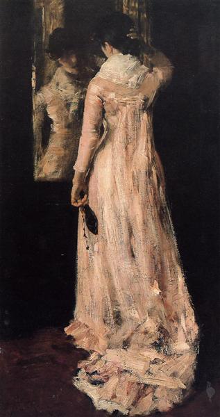 The Mirror, c.1883 - William Merritt Chase