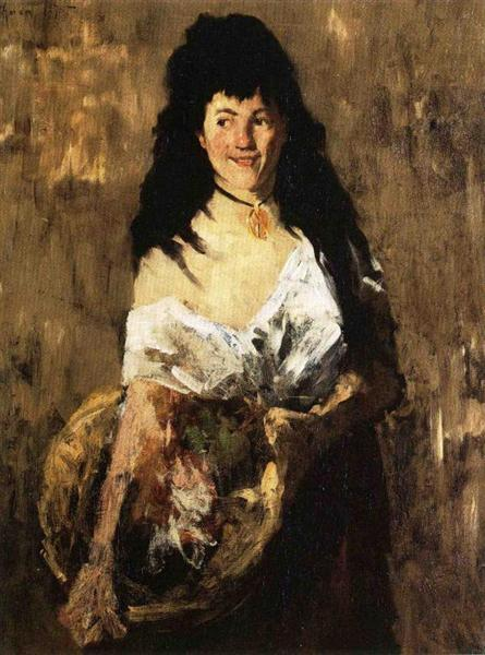 Woman with a Basket, 1875 - William Merritt Chase