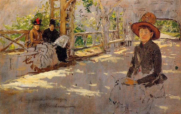 Women under Trellis, 1886 - William Merritt Chase
