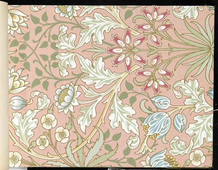 Wallpaper - Hyacinth, pattern #480, 1917 - William Morris