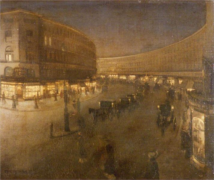 Regent Street, 1910 - William Orpen