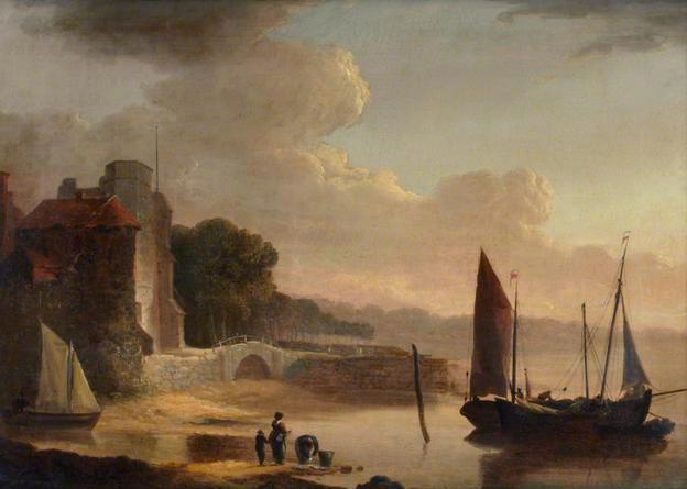 Mouth of the Old Canal, 1842 - William Shayer