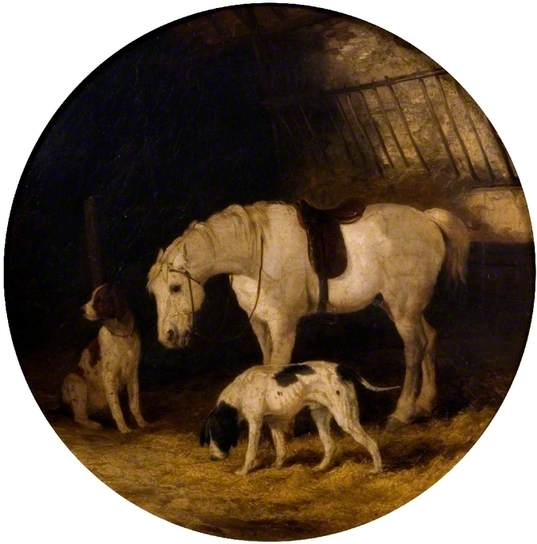 Pony and Dogs, 1860 - William Shayer