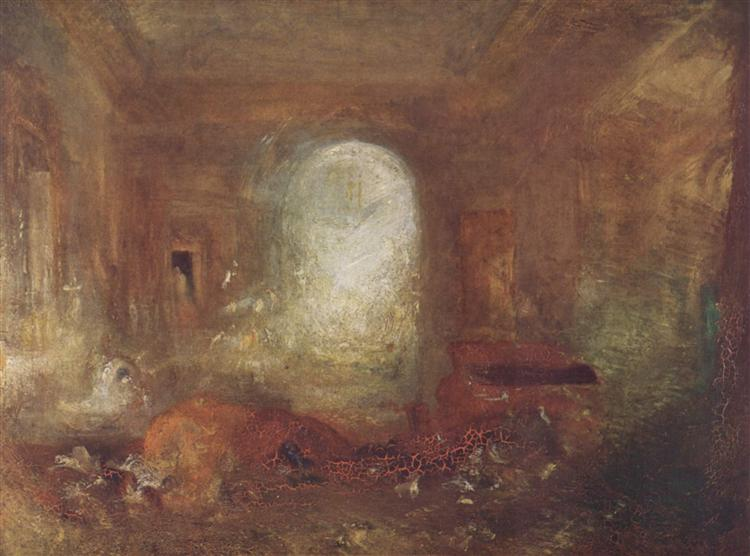 Interior of Petworth House, c.1837 - J.M.W. Turner