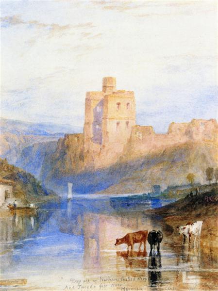 Norham Castle on the Tweed, c.1822 - J.M.W. Turner
