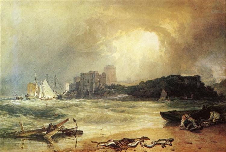Pembroke Caselt, South Wales, Thunder Storm Approaching, 1801 - J.M.W. Turner