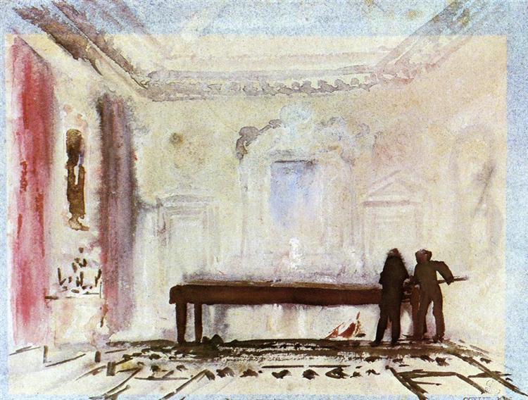 Playing Billiards, Petworth, c.1828 - J.M.W. Turner