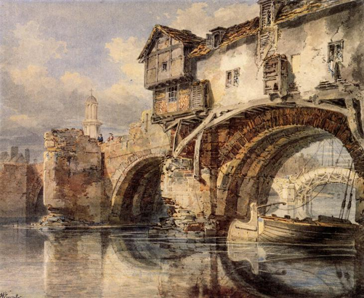Welsh Bridge at Shrewsbury - J.M.W. Turner