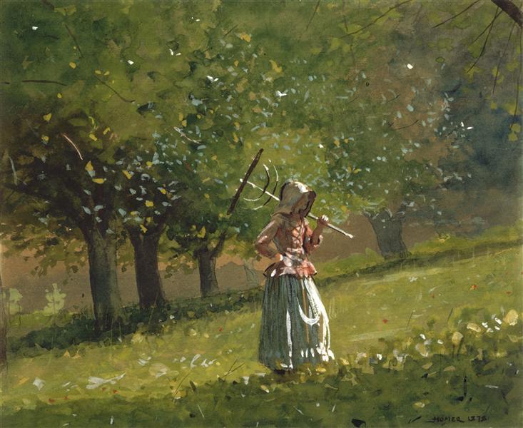 Girl with Hay Rake, 1878 - Winslow Homer