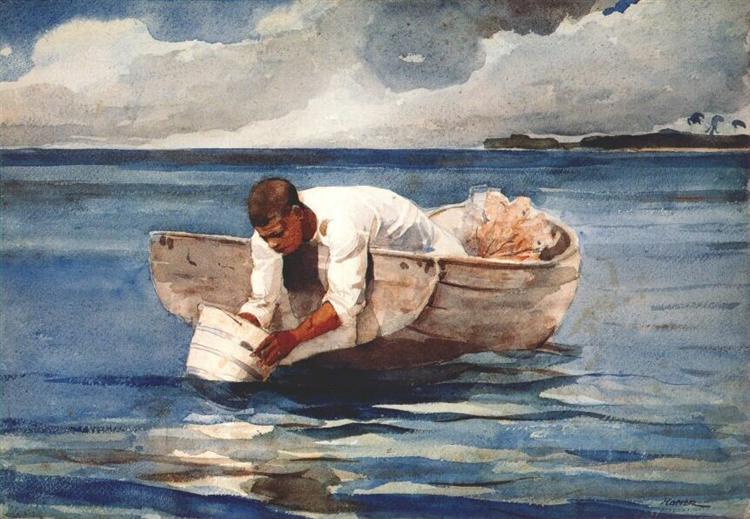 The water fan, 1898 - 1899 - Winslow Homer