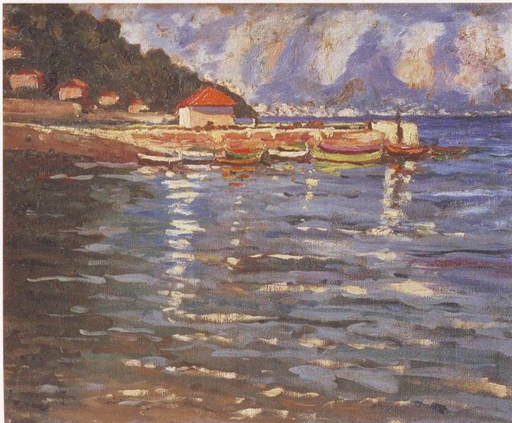 The Harbour at St. Jean Cap Ferrat, 1921 - Winston Churchill