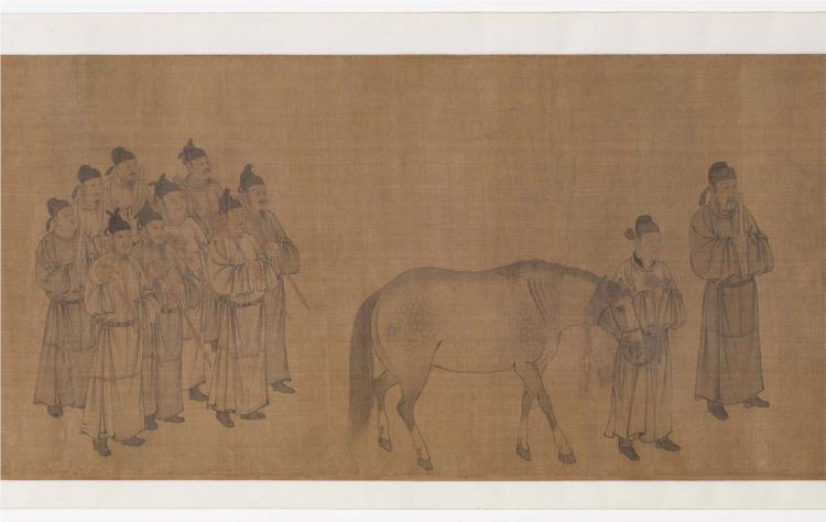 Emperor Minghuang viewing horses - У Даоцзи