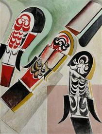 Panel for the Safe of a Great Millionaire - Wyndham Lewis