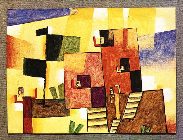 Dos Casas, 1922 - Xul Solar
