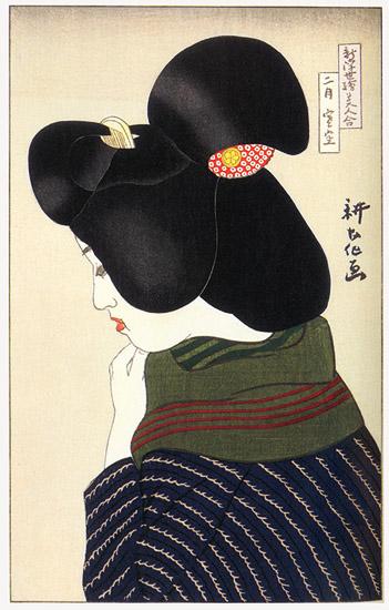 February - Wintry Sky, 1924 - Yamamura Toyonari