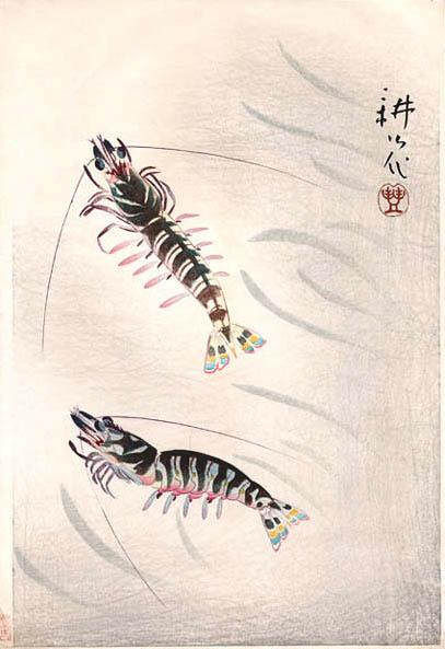 Two Prawns, 1924 - Yamamura Toyonari