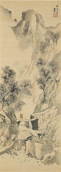 Landscape with a Solitary Traveler, 1780 - Yosa Buson