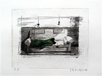Green Wall series No. 3 - Zhang Xiaogang
