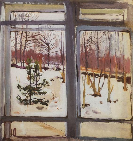 Окно, 1910 - Зинаида Серебрякова