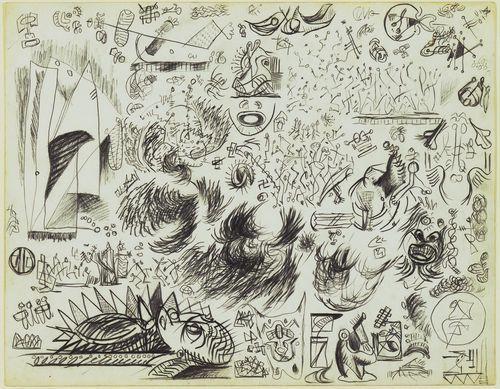 Сторінка етюдів, 1941 - Джексон Поллок
