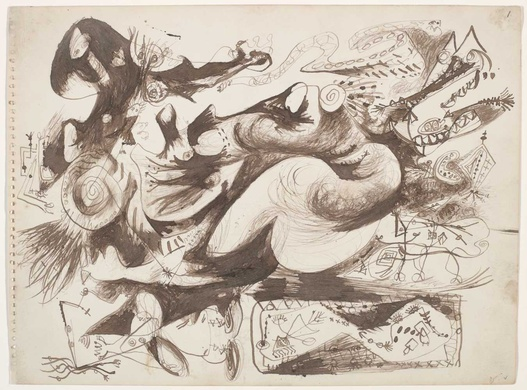 Untitled (O'Connor-Thaw 770), c.1946 - c.1947 - Jackson Pollock